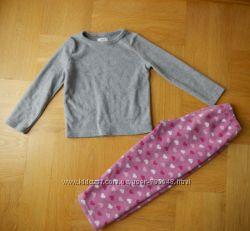 98-104 см F&F какновая флисовая пижама