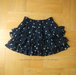 128-140 Hollister как новая шифоновая пышная нарядная юбка