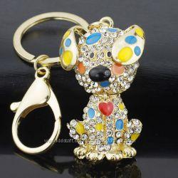 Брелок для сумки и ключей Долматин с сердечком