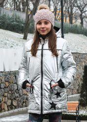 Серебро куртка -парка