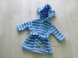 Суперский халат с ушками Baby 0-3 мес подходит пупсам и большим куклам.