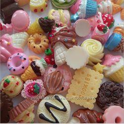 &nbspЕда сладости выпечка торт мороженое для кукол миниатюра.