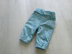 Штаны вельветовые на подкладке для девочки M&Co baby 0-3 мес 50-62 см.