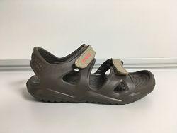 Сандалии Детские Crocs Swiftwater защитные, темно-зеленые