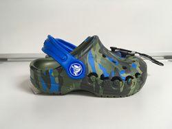 Клоги Детские Crocs на Мальчика Baya Army Green Крокс Оригинал