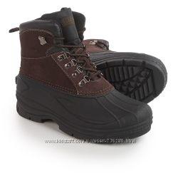 Ботинки мужские, демисезонные, кожаные, резиновая калоша Coleman