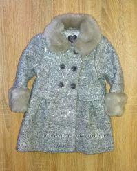 Красивенное пальто F&F, рост 92 см 1. 5-2 года.