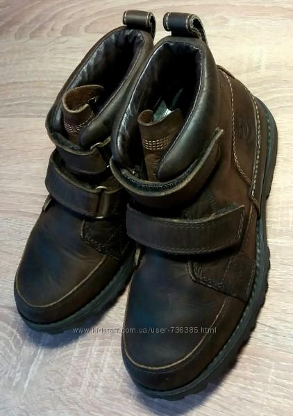 Кожаные демисезонные ботинки Timberland, US 1, UK 13. 5, EU 32. 5.