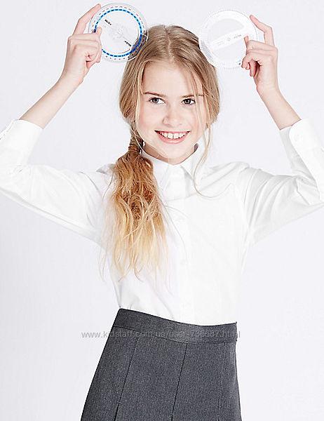 Школьная блуза для девочки Slim fit Easy iron Marks&Spencer от 6 до 11 лет