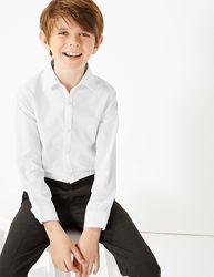 Школьная рубашка для мальчика Slim Fit/Easy to iron  Marks&Spencer 7-11лет