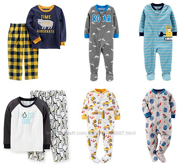 Флисовые пижамы Carters для мальчиков от 2 до 5 лет