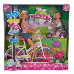 Кукольный набор Штеффи и Эви Прогулка на велосипедах. Разные наборы.