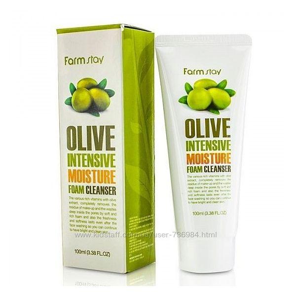 увлажняющая пенка с экстрактом оливы FARMSTAY Olive Intensive Moisture Foam