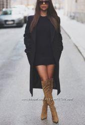 Черное стеганое платье