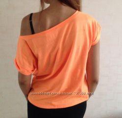 Сочная оранжевая футболка майка Top Secret