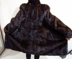 Норковая шубка длинная Шуба из норки шоколадная Mimi fur