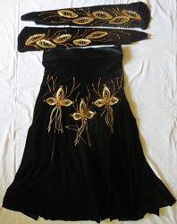 Юбка и перчатки для восточных танцев ракс шарки