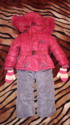 Зимний комбинезон на 2-3 года на 80 см куртка курточка