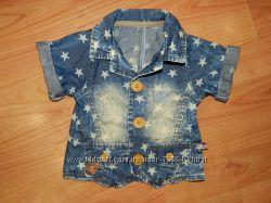 Джинсовый пиджак на мальчика. На 6-12 месяцев
