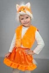 Новогодний костюм лисички на девочку. На 3-5 лет.