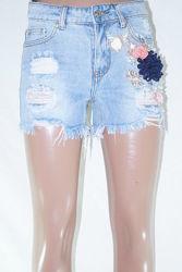 Хит сезона Женские джинсовые шорты. Момы. Размеры 25-30