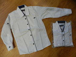 Белые рубашки на мальчиков. От 5 до 8 лет