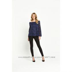 Кружевная блуза с длинным рукавом