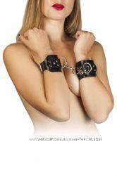 наручники Leather Hand Cuffs, black 280173