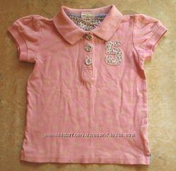 Розовая футболка-поло Fix, на 104-110 рост