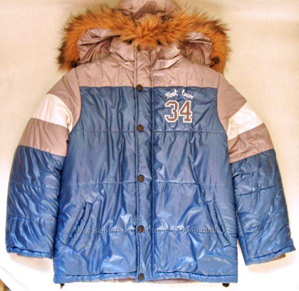 Зимняя куртка три цвета от Barbaris на 152 рост
