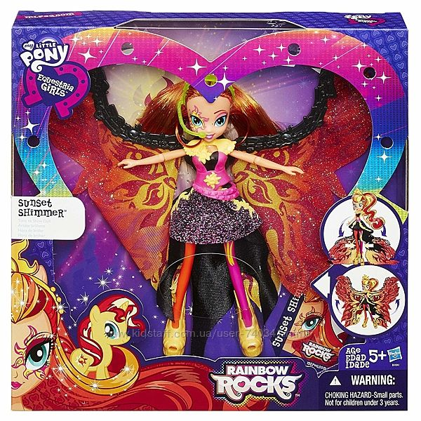 Кукла Сансет Шиммер время сиять My Little Pony Equestria Girls Rainbow Rock