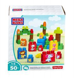 Конструктор для малышей Mega Bloks Животные 50 деталей первое строительство
