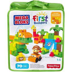 Конструктор Mega Bloks Построй динозавра 70 деталей Mega Bloks