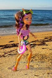 Monster High Gloom Beach Clawdeen Клодин Вульф серия Мрачный пляж