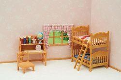 Calico Critters Children&acutes Bedroom Set Детская спальня Сильваниан
