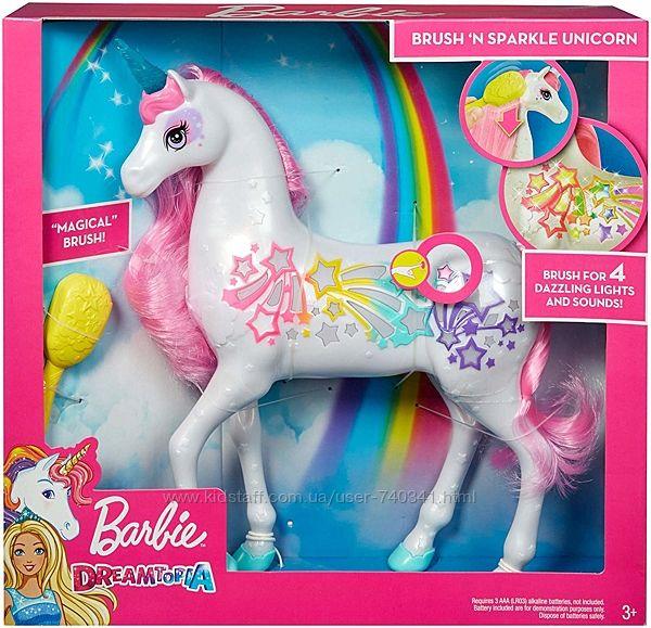 Барби Дримпопия Мерцающий единорог Barbie Dreamtopia Brush Sparkle Unicorn