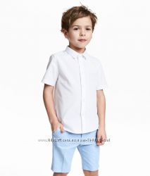 Новые белые нарядные школьные рубашки с коротким рукавом c&a и giorgio