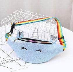 Детская сумочка на пояс Единорог с рогом и ушками