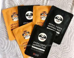 Тканевая корейская маска отбеливающая от веснушек