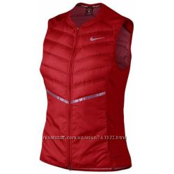Nike AEROLOFT 800 DOWN Reflective Running Jacket Red Women&acutes Size Xl