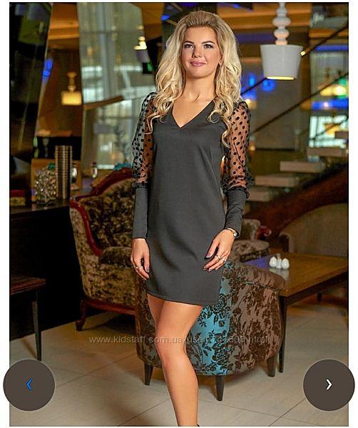 Шикарное чёрное платье 36 размер