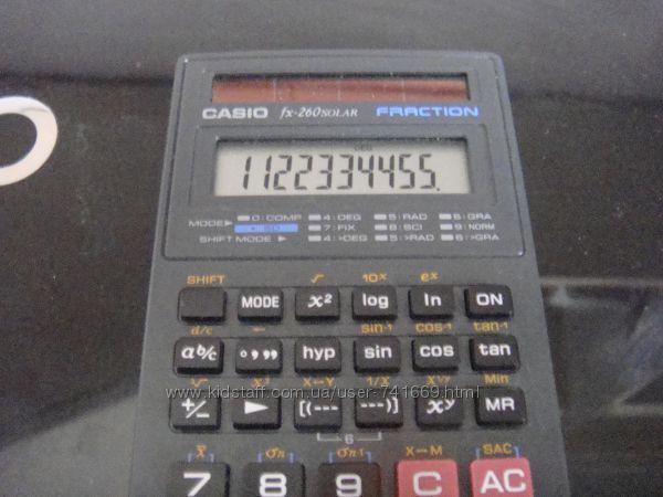 Продам инженерный калькулятор СASIO-fx60solar