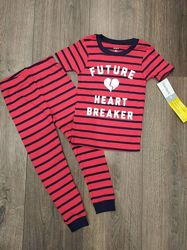Яркая хлопковая пижама маленького сердцееда Carters