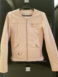 Куртка косуха пудрового цвета ZARA
