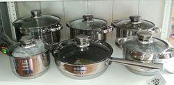 Набор посуды 12 предметов, качество супер. Акция Цена снижена