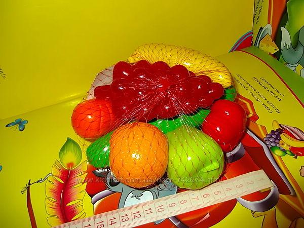 Овощи, фрукты.  8 предметов  новые