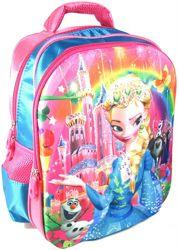 Рюкзак с 3D рисунком для Девочки школьный Эльза, Холодное сердце Frozen