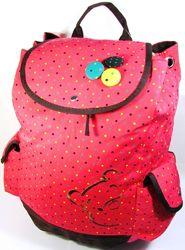 Рюкзак женский городской молодёжный розовый с мишкой. Хит