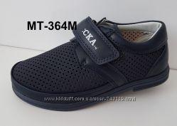 Качественные перфорированные туфли мокасины для мальчиков