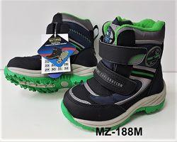 Самые теплые зимние сапоги-ботинки  BG для мальчиков р. 24-29